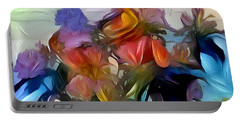 Floral Abstract Portable Battery Charger by Jim Pavelle