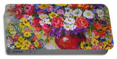 Floral Abundance Portable Battery Charger