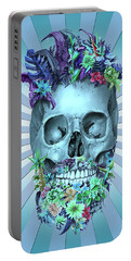 Floral Beard Skull 2 Portable Battery Charger