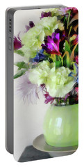 Floral Bouquet In Green Portable Battery Charger