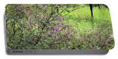 Floral Bush Portable Battery Charger