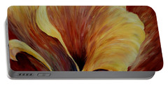 Floral Close Up Portable Battery Charger