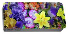 Floral Collage 02 Portable Battery Charger