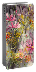 Floral Cosmos Portable Battery Charger