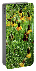 Floral Portable Battery Charger by Cynthia Powell