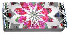 Portable Battery Charger featuring the photograph Floral  Design by Shirley Moravec