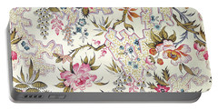 Floral Design Portable Battery Charger