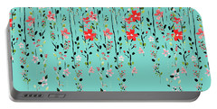 Floral Dilemma Portable Battery Charger by Uma Gokhale