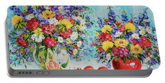 Floral Fantasy Portable Battery Charger by Alexandra Maria Ethlyn Cheshire
