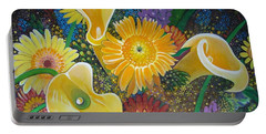 Floral Fireworks Portable Battery Charger