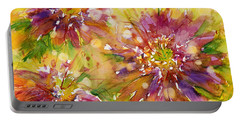 Floral Fireworks Portable Battery Charger by Judith Levins