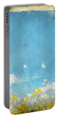 Floral In Blue Sky And Cloud Portable Battery Charger