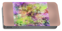 Floral Pastel Abstract Portable Battery Charger