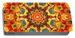 Mandala Of The Sun Portable Battery Charger