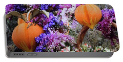 Portable Battery Charger featuring the photograph Floral Peaches by Linda Phelps