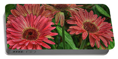 Portable Battery Charger featuring the photograph Floral Pink by Deborah Benoit
