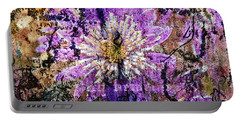 Floral Poetry Of Time Portable Battery Charger