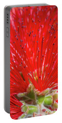 Floral Red Portable Battery Charger