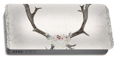 Floral Reindeer Skull  Portable Battery Charger