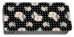 Floral Rose Cluster W Dot Bedding Home Decor Art Portable Battery Charger