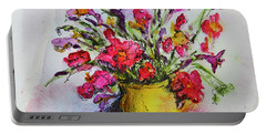 Floral Still Life 05 Portable Battery Charger by Linde Townsend