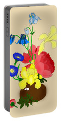 Floral Still Life 1674 Portable Battery Charger