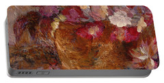 Floral Still Life Pinks Portable Battery Charger