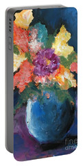 Floral Study 1 Portable Battery Charger