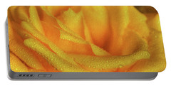 Portable Battery Charger featuring the photograph Floral Yellow Rose Blossom by Shelley Neff