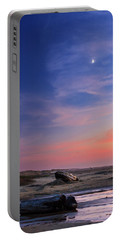 Florence Beach Twilight Moon Portable Battery Charger