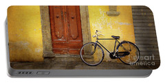 Portable Battery Charger featuring the photograph Florence Bicycle Under The Sun by Craig J Satterlee
