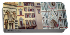 Portable Battery Charger featuring the photograph Florence Italy View by Joan Carroll