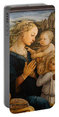 Florence - Madonna And Child With Angels- Filippo Lippi Portable Battery Charger