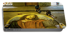 Portable Battery Charger featuring the photograph Florence Street Art by Jean Haynes