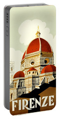 Florence Travel Poster Portable Battery Charger