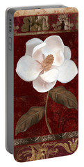 Flores Blancas Rectangle I Portable Battery Charger