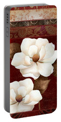 Flores Blancas Rectangle II Portable Battery Charger