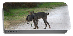 Florida Bobcat Catches An Evening Snack Portable Battery Charger