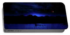 Florida Everglades Lunar Eclipse Portable Battery Charger by Mark Andrew Thomas