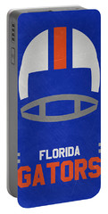Florida Gators Vintage Football Art Portable Battery Charger