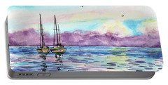 Portable Battery Charger featuring the painting Florida Keys Islamorada Shore by Irina Sztukowski