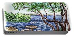 Portable Battery Charger featuring the painting Florida Keys John Pennekamp Park Shore by Irina Sztukowski