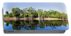 Portable Battery Charger featuring the photograph Florida Lake And Trees by Dart and Suze Humeston