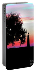 Florida Lighthouse Sunset Silhouette Portable Battery Charger