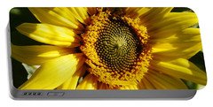 Portable Battery Charger featuring the photograph Fresh Morning Sunflower by Belinda Lee