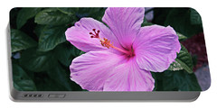 Florida Pink Hibiscus Portable Battery Charger