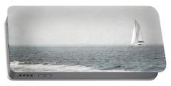 Florida Rustic Sailboat Ocean Landscape Portable Battery Charger by Andrea Hazel Ihlefeld