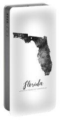 Florida State Map Art - Grunge Silhouette Portable Battery Charger