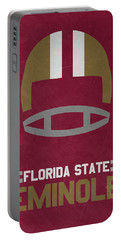 Florida State Seminoles Vintage Football Art Portable Battery Charger by Joe Hamilton