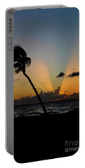 Portable Battery Charger featuring the photograph Florida Sunrise Palm by Kelly Wade